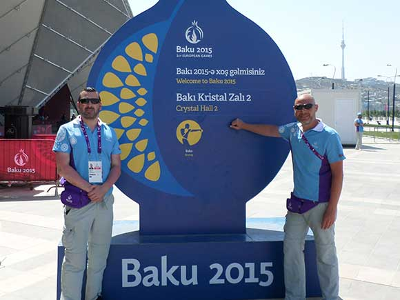 picture showing In 2015 the 1st European Games were held in Baku, Azerbaijan. Sword Security were on hand to provide professional crowd management services.